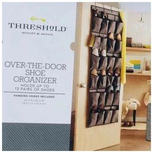 Theshold  24-Pocket Over-the-Door Shoe Organizer